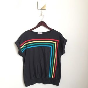 Vintage Young Stuff Rainbow Stripe Top